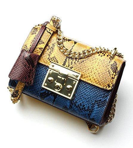 Bolso Ash Hombro GUANGMING77 De Bolso Bag Satchel Femenina Deep Cadena Solo Grande Huangpeilan Blue Con 7W7qEnpT