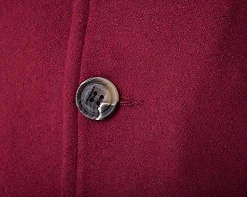 Coat Manga Trench Vino Hombres Abrigo Rojo Parka Casual DianShao Larga Slim Elegante Chaqueta I0SO6x