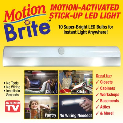 Motion Activated Stick Up Led Light - 1