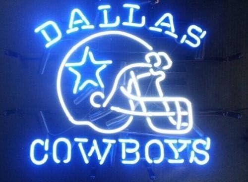"New Miller Lite Dallas Cowboys Go Cowboys Beer Neon Light Sign 24/""x20/"""