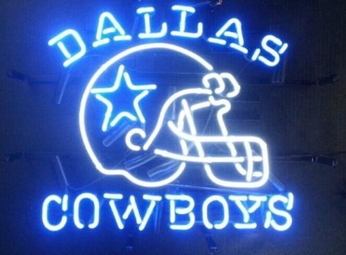 Urby™ 24''x20'' Dallas Sports Club Cowboy Helmet Neon Light Sign Beer Bar Handicraft SP99