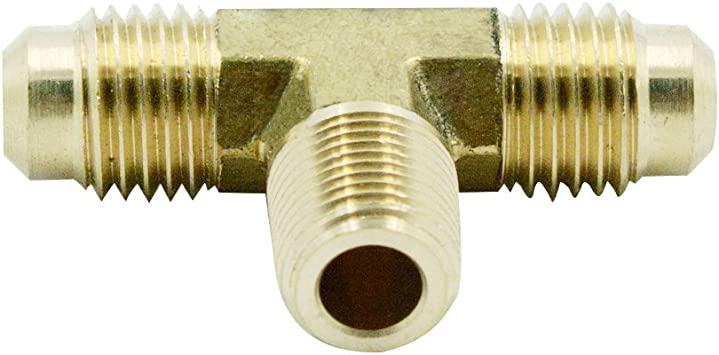 SAE 45 Degree Flare Fitting 3//8 Flare Tube x 1//4 NPT Male Thread Legines Brass 45 Degree Forged Male Elbow Pack of 2 3//8 Flare Tube x 1//4 NPT Male Thread