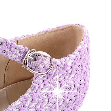 Talones de las mujeres Primavera Verano Otoño Otros sintético fiesta y noche del vestido ocasional de tacón de aguja hebilla púrpura rosado amarillento Beige
