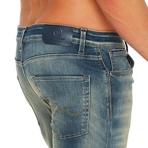 JACK & JONES Herren Slim Jeans Hose O TIM REAGAN SUPER STRETCH Blue 2. Wahl