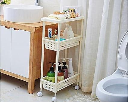 Mobili Fai Da Te Bagno : Tougmoo di risparmiare spazio bagno mensola con ruota cestino