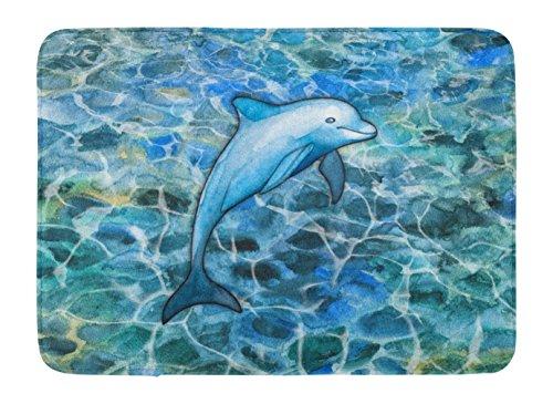 Caroline's Treasures Dolphin Floor Mat, 19 H x 27 W, Multicolor