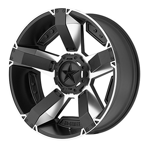 XD Series by KMC Wheels XD811 Rockstar II Satin Black Wheel With Machined Accents (20x9''/8x180mm, -12mm offset) by XD Series by KMC Wheels