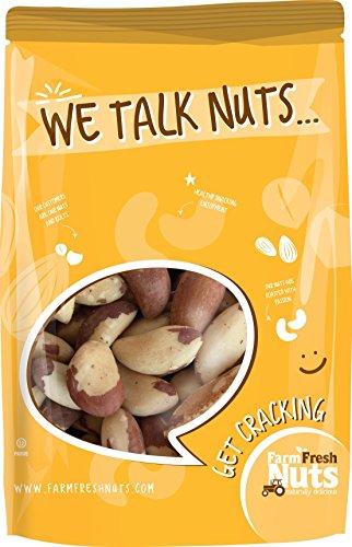Farm Fresh Nuts RAW BRAZIL NUTS SHELLED (1 LB)