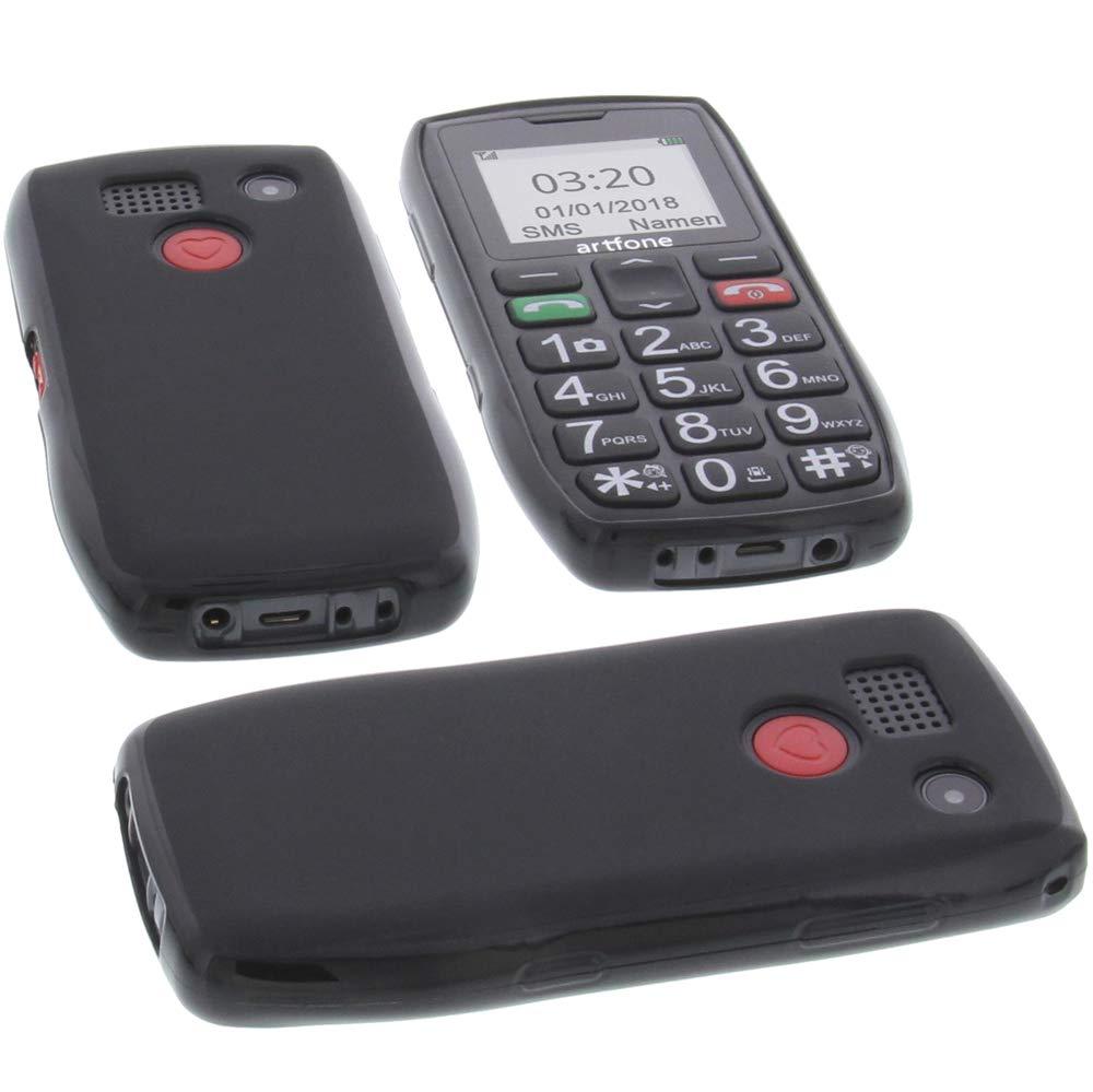 foto-kontor Funda para Artfone C1 Protectora de Goma TPU para móvil Negra: Amazon.es: Electrónica