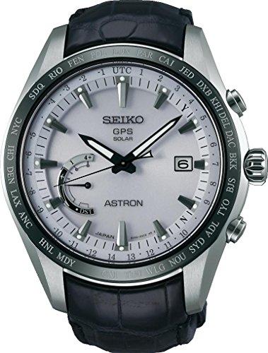 SEIKO Astron SSE093J1 Silver Leather Man Chronograph