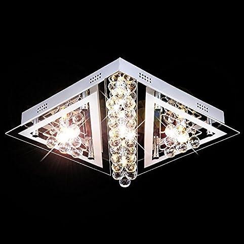 LED Design Deckenleuchte Deckenlampe Lüster Leuchte Wohnzimmer Schlafzimmer  Lampe Kronleuchter Ø40cm Inkl. Led Leuchtmittel