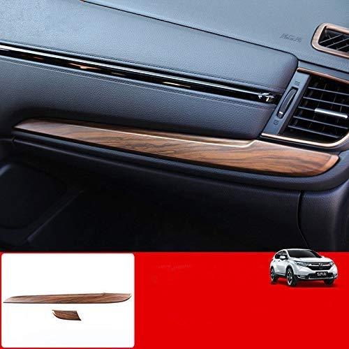 For Honda CRV CR-V 2017 2018 Peach Wood Grain Dashboard Stripe Cover 2PCS Flash2ning