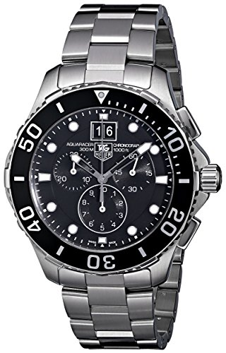 - TAG Heuer Men's CAN1010BA0821 Aquaracer Stainless Steel Chronograph Watch
