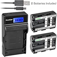 Kastar Battery (X2) & SLIM LCD Charger for Sony NP-FM500H Alpha SLT A58 A57 A65 A77 A99 A77V A77II DSLR-A100 A200 A350 A450 A500 A550 A560 A700 A850 A900 Alpha a99 II CLM-V55 DSLR a100 a560 a580 a77II
