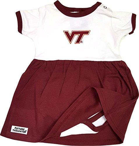 Virginia Tech Hokies Baby Onesie Dress