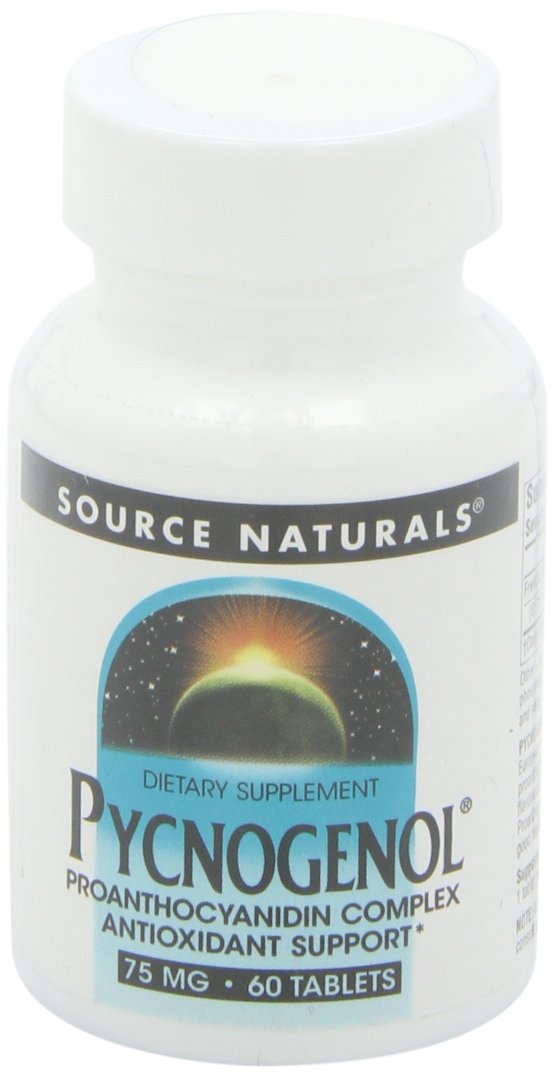 Source Naturals Pycnogenol 75 mg Proanthocyanidin Complex - 60 Tablets by Source Naturals
