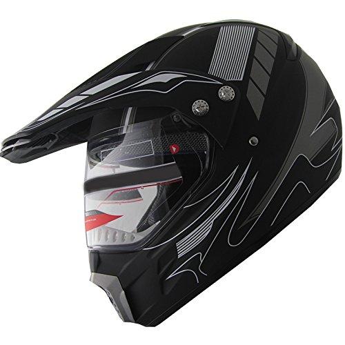 Motocross-Dual-Sport-Off-Road-Dirt-Bike-ATV-Motorcycle-Helmet-406184-w-Visor