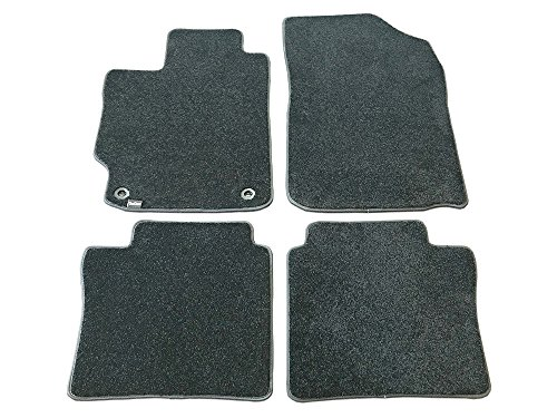 CarsCover Custom Fit 2015-2017 Toyota Camry Front and Rear Carpet Car Floor Mats Heavy Cushion Ultramax Asphalt Black