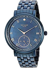 Womens Monterey Quartz Stainless Steel Casual Watch, Color:Blue (Model: