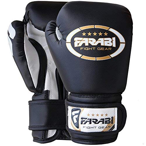 Farabi Kids boxing gloves, junior mitts, junior mma kickboxing Sparring gloves 4Oz black [並行輸入品] B01028S8QW