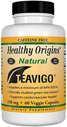 Healthy Origins teavigo 94 Egcg Green Tea, 150 Mg, 60 Veggie Caps