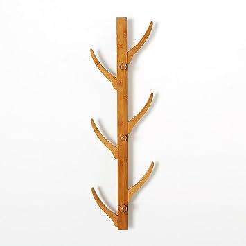 Percha de bambú Natural Dormitorio Colgante de Pared del ...