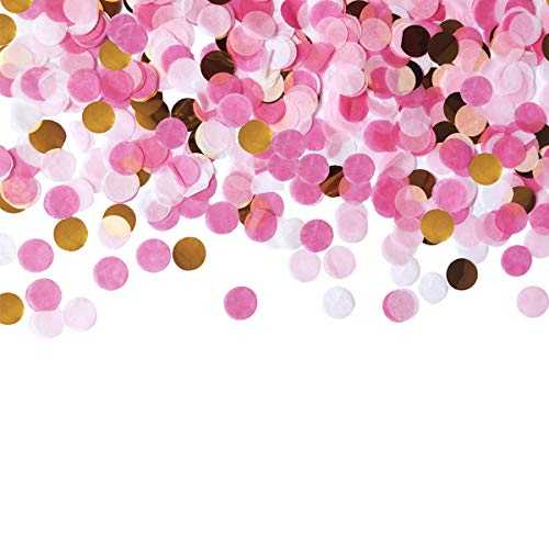 (Table Confetti 30g Dots Confetti 1 INCH Tissue Paper Round Party Confetti for Bachelor Graduation Party or Filling Balloons (Pink Set))
