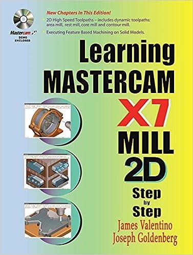 Learning Mastercam X7 Mill 2D Step by Step: James Valentino, Joseph Goldenberg: 9780831134860: Amazon.com: Books