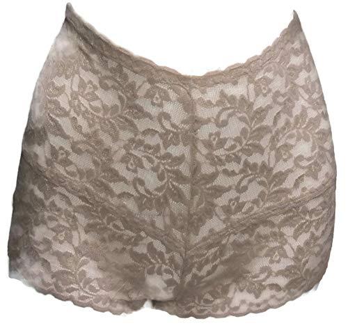 Hanky Panky Signature Lace Retro Hot Pants, L, Chai -