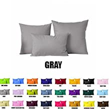 "Pillow Cover With Insert Hypo Allergenic(Insert are Included) (12""x18"", Gray)"