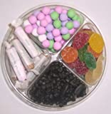 Scott's Cakes 4-Pack Pectin Fruit Gels, Black Licorice Bears, Salt Water Taffy, & Chocolate Dutch Mints