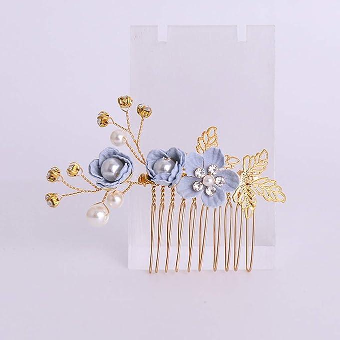 1Set Haarschmuck Haarspangen Kopfschmuck Perle Blume Haarnadeln Haarspange DE