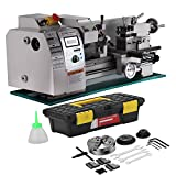 Happybuy 8x16 Inch Metal Lathe 2500RPM 750W Mini Bench Lathe Maintenance Free Variable Spindle Speed Lathe Machine for Mini Precision Parts Processing