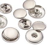 platinum butt set - Pandahall 10Sets Brass Bouton Pression Spring Snap Fastener, Including Socket, Post, Platinum, 19x4.5mm, Hole: 4~6mm; 2pcs/set
