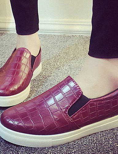 Uk5 Zapatos Mocasines Zq Comfort Blanco 5 Cn38 Red Semicuero Rojo Eu38 Uk4 5 Plano Exterior De us7 Mujer Negro Tacón Eu36 Cn36 Casual us6 White TnYXdYr