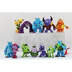 12pcs/Set 3-5 cm Monsters Inc. Monsters University Action Figure Toy Set