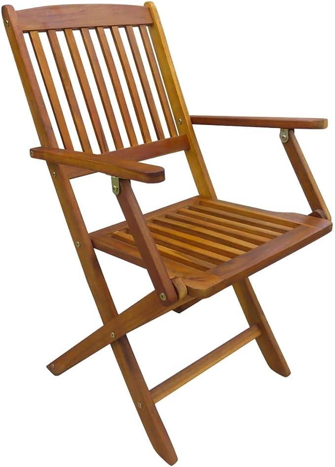 vidaXL Lot de 2 chaises de Jardin en Bois d\'acacia