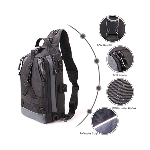 Amitfo Fishing Backpack Fishing Tackle Backpack with Rod Holder Fishing Tackle B
