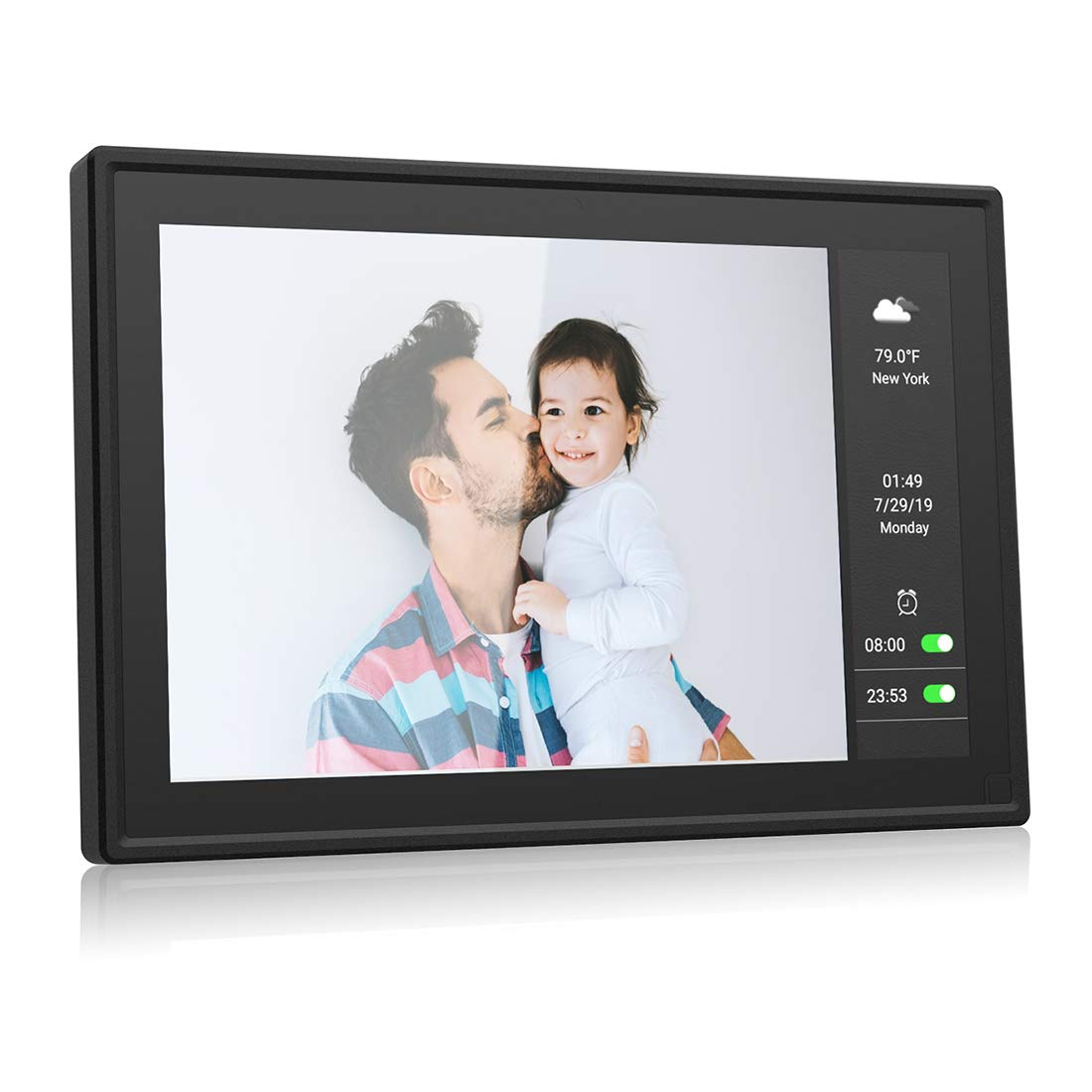 BSIMB Wifi Cloud Digital Picture Frame Digital Photo Frame Dual Display 9 Inch+5.5 Inch IPS Touch Screen Motion Sensor Sent Photos from Anywhere Support iOS/Android.Facebook.Twitter.Email W09 Plus 16G
