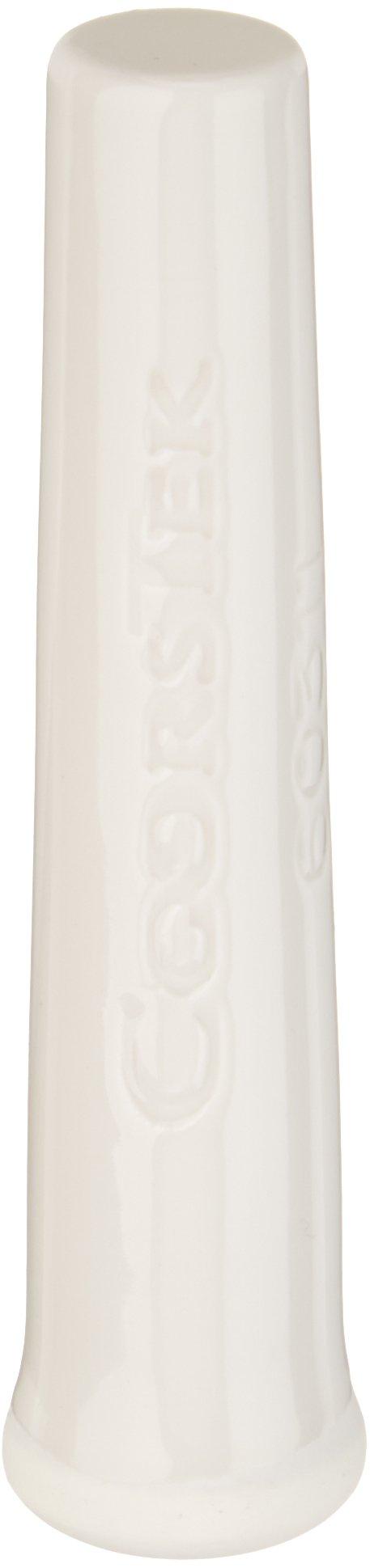 CoorsTek 60311 Porcelain Ceramic Chemical and Heat Resistant Pestle for 60310 Porcelain Mortar, 114mm Length