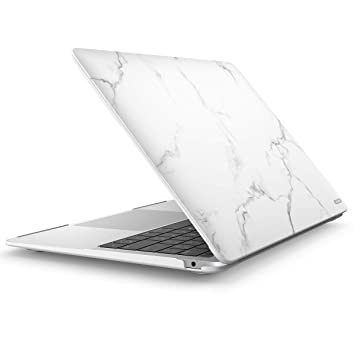 i-Blason Funda para Macbook Air 13 Modelo 2018 de Carcasa Dura con Acabado Mate,Delgada para Apple Macbook Air 13 Inch (Blanco)