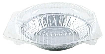 Pactogo 3 Disposable Aluminum Foil Tart Pans Mini Silver Baking Pie