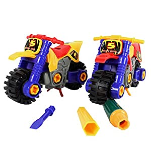 Motorcycle Model Toy - 1 Piece Creativity Assembled Toys DIY Disassembled Motorcycle Model Kids Children Educational Diecast Toy With Screwdriver