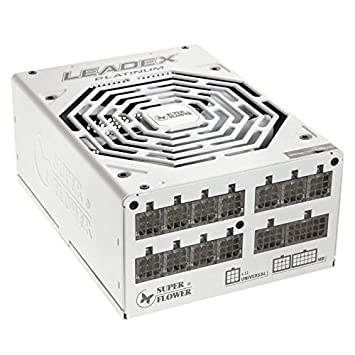 "Super Flower Leadex Platinum 550W Fully Modular ""80 Plus Platinum"" Power Supply - White"
