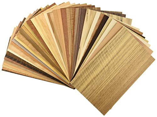 Veneer Variety Pack 20 Sq. Ft. by (Marquetry Accents)