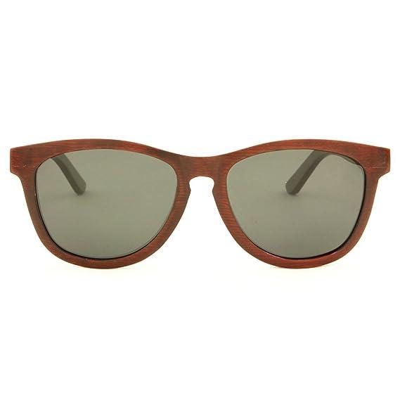 a96f7c3fa24f1 RawWood Men s Kiwanda Polarized Wood Sunglasses Brown Smoke  Amazon ...