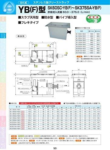 YB(F)型 SK85SA-YB(F) 耐荷重蓋仕様セット(マンホール枠:ステンレス/蓋:SS400) T-14
