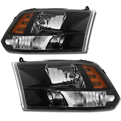 (SPPC Crystal Headlights Black With New Factory Style For 2009-2018 Dodge Ram (Pair))