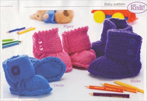 Baby Ugg Boots Knitting Pattern To Fit Age Birth3months 3months