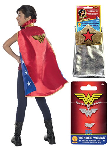 Rubie's Child's DC Comics Cape Costume Accessory Kit, Wonder Woman -